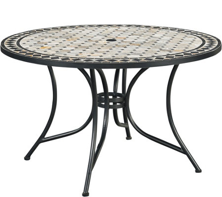 "Home Styles Marble Top 51"" Round Outdoor DiningTable"