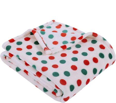 Berkshire Blanket Holiday Polka Dot Throw