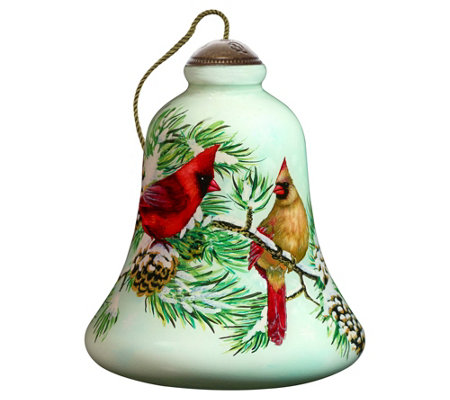 Winter Cardinals Ornament By Ne Qwa