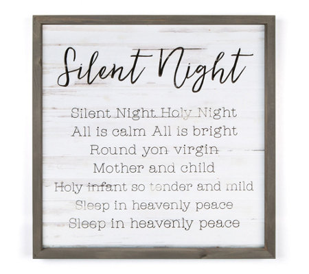Silent Night Wall Art Tabletop Display