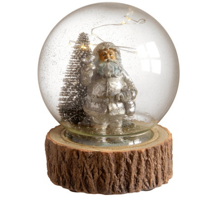6 Glass Globe With Santa