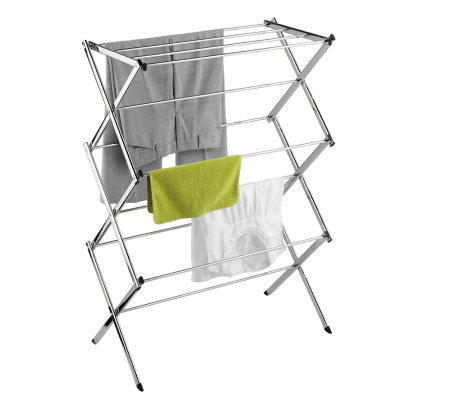 Honey-Can-Do Chrome Commercial Drying Rack