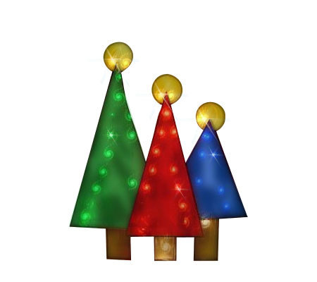 36 christmas tree hologram silhouette by britestar