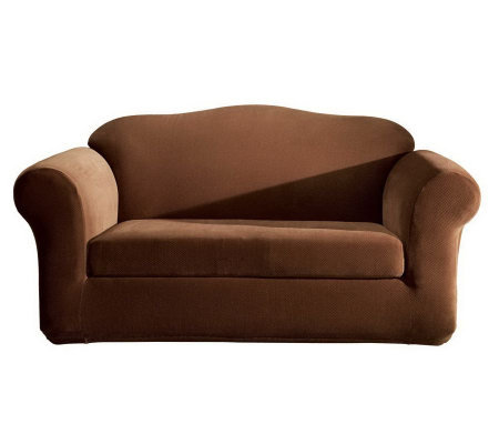 Sure Fit Stretch Pique Separate-Seat Sofa Slipcover