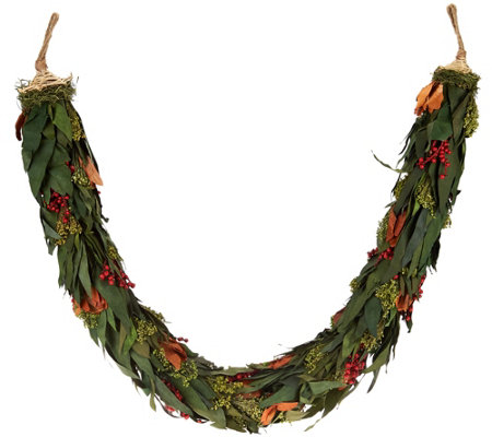 ED On Air Magnolia and Berry Preserved Garland by Ellen DeGeneres