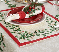 "Lenox Holiday Set of 4 13"" x 19"" Water Repel Placemats - H210463"