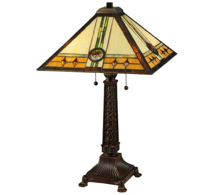 Meyda Tiffany-Style Carlsbad Mission Table Lamp