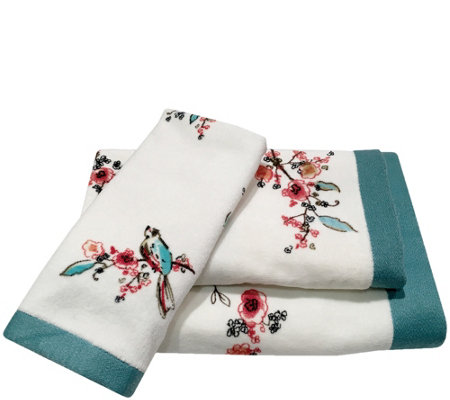 Lenox Chirp 3-Piece Printed Towel Set