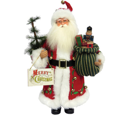 "15"" Merry Christmas Claus by Santa's Workshop"