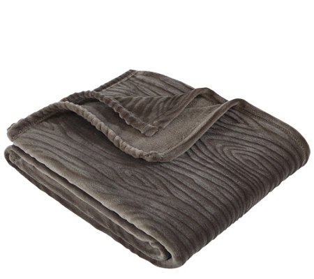 Berkshire Blanket Velvet Soft Woodgrain Throw Blanket
