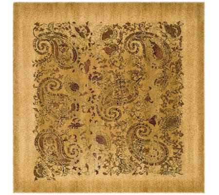 Lyndhurst 8' x 8' Paisley Life Power Loomed Square Rug