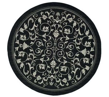 Safavieh Courtyard Heirloom Gate 5 3 Round Rug