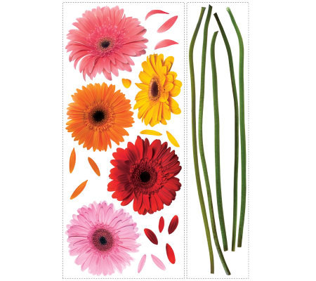 Roommates Gerber Daisies Peel Stick Wall Decals