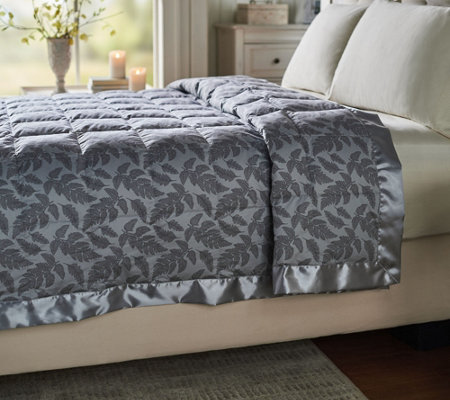 Northern NIghts 550FP Cotton Fern Print Twin Down Blanket