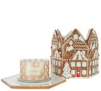 HomeWorx by Harry Slatkin Gingerbread House with 4-Wick Candle - H215864