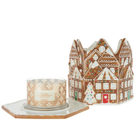 HomeWorx by Harry Slatkin Gingerbread House with 4-Wick Candle