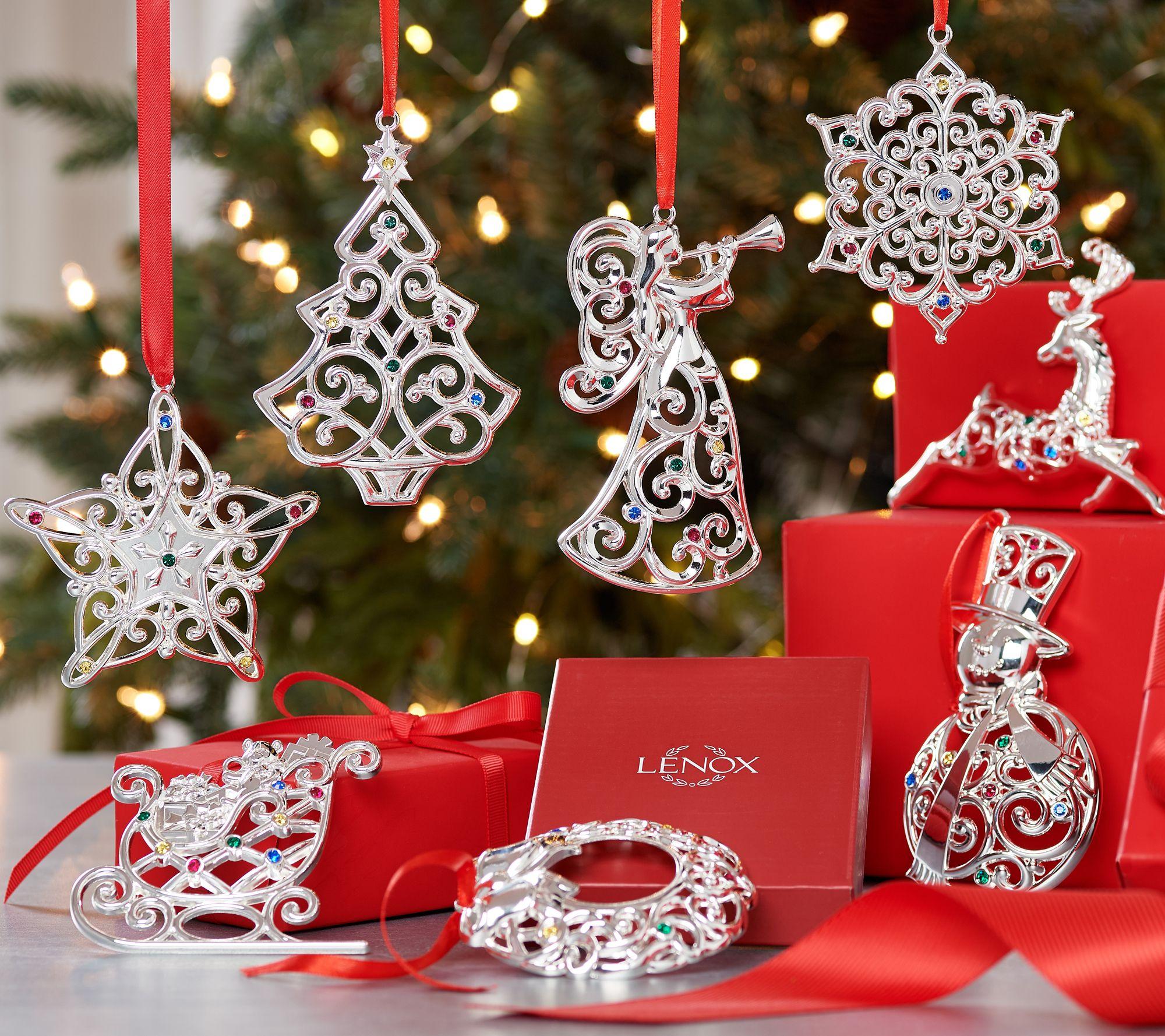 8 Vintage Glass Small Motorbike Christmas Tree Ornaments
