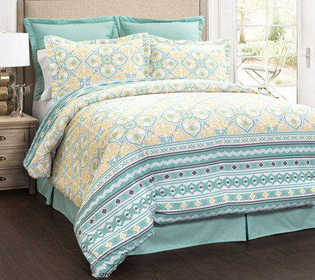 Carlene 6-Piece Blue King Comforter Set by LushDecor
