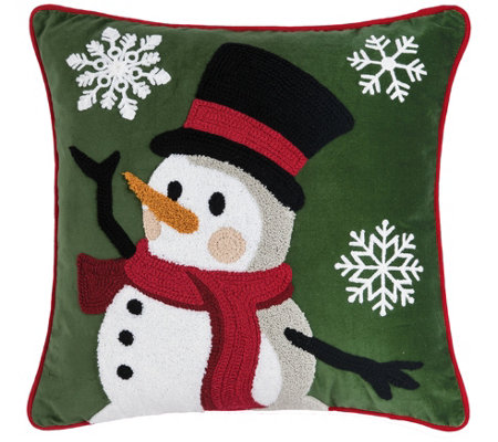Snowman Dance Pillow By C F Home