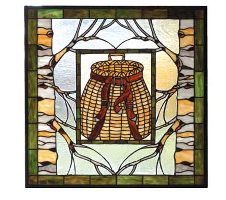 Meyda Tiffany Adirondack Backpack Stained GlassWindow Panel