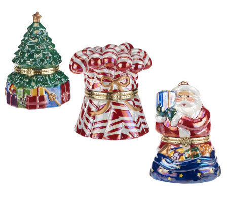 mr christmas set of 3 host choice musical ornaments - Qvc Christmas Decorations
