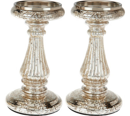 Set of 2 Candle and Taper Holder Pedestals by Valerie