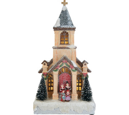 """As Is"" Choice of Illuminated Musical Winter Village Scenes by Valerie"