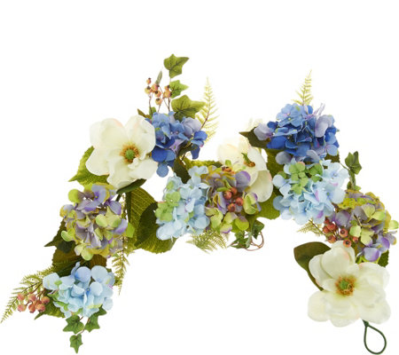 """As Is"" 4' Hydrangea and Berry Garland by Valerie"