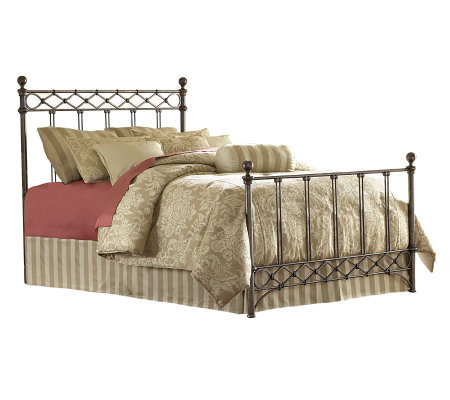 Fashion Bed Group Argyle Copper Chrome Queen Bed