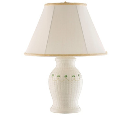 Belleek Braid Lamp and Shade