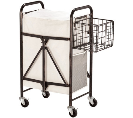 Lifetime Brands Artesa Collapsible Rolling Laundry Cart