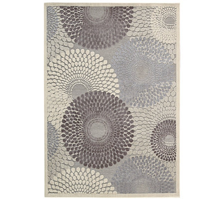 "Nourison Graphic Illusions Grey 5'3"" x 7'5"" Area Rug"