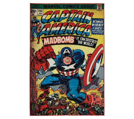 "Captain America  4'6"" x 6'6"" Area Rug"