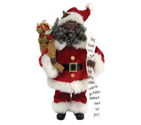 "16"" African American Santa with Toys by Santa'sWorkshop"