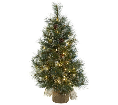 3' Christmas Tree in Burlap Bag by Nearly Natural