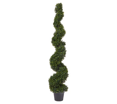 Pure Garden Decorative Spiral Faux Boxwood Topiary