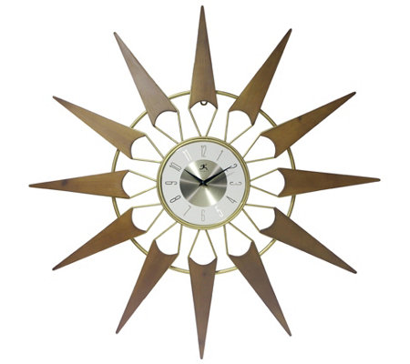 Infinity Instruments Nova 31 Mid Century Modern Clock