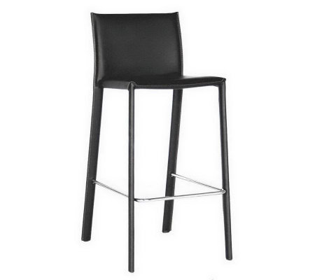 Kazan Set of 2 Bonded Leather Barstools