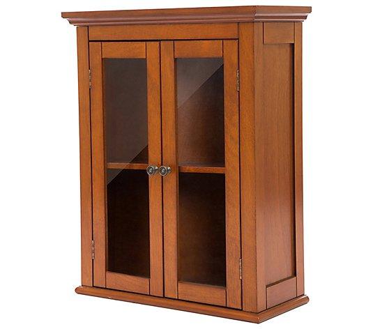 Glitzhome Modern Wooden Bathroom Wall Mounted Storage Cabinet Qvc Com