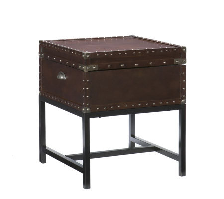 Home Reflections Montclair Espresso Storage EndTable