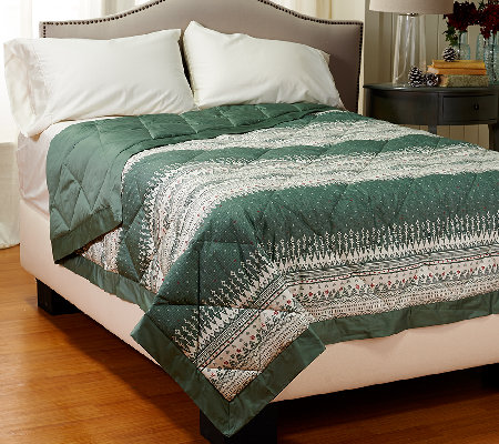 Northern Nights Fair Isle 400TC Extra Warmth FL Reversible Down Blanket