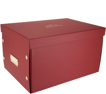 "Hallmark Keepsake 16"" Ornament Storage Box w/Dividers"
