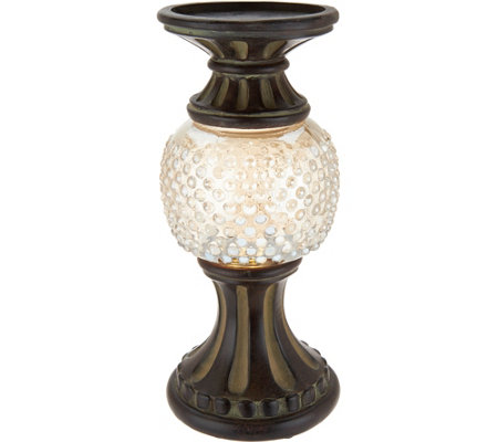"11"" Illuminated Hobnail Glass Pedestals"