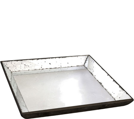 Waverly Mirrored Square Tray by Valerie