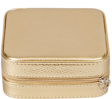 Mele & Co. Luna Travel Jewelry Case in MetallicFaux Leather
