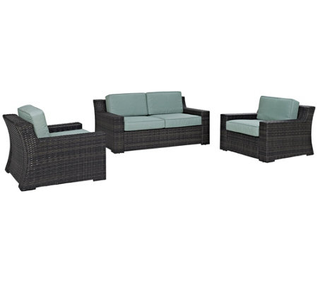 Beaufort Love Seat And Two Outdoor Chairs