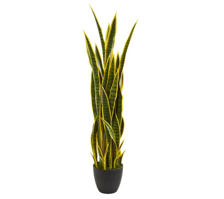 4' Sansevieria Artificial Plant by Nearly Natural