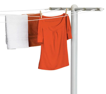 Honey-Can-Do 5-Line Steel In-Ground T-Post Dryer