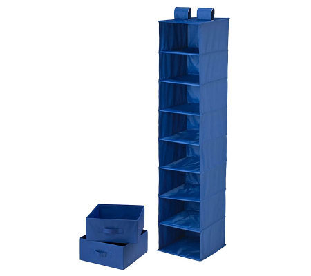 Honey-Can-Do Combo Drawer & Shelf Hanging Organizer - Blue