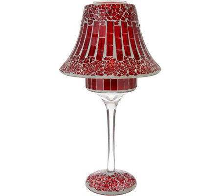 Mosaic Glass Tile Lamp with Tealight by Valerie